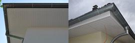 Kunststoff-Dachunterschläge ersparen viel Arbeit